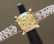 Loose Yellow Diamond: .46ct Fancy Yellow VS1 Cushion Cut GIA Beautiful Shape R3440