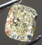 Yellow Diamond Halo Ring: 1.39ct U-V VS2 Cushion Cut GIA Lovely Lemony Glitter R5117