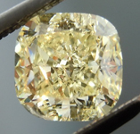 Loose Diamond: 1.04ct Fancy Light Yellow Cushion Cut GIA Learn About Naturals In Diamonds R5037