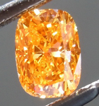 SOLD...Loose Orange Diamond: .40ct Fancy Vivid Yellowish Orange SI2 Cushion Cut GIA Remarkable Color R5184