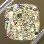 SOLD.....Loose Yellow Diamond: 1.15ct Y-Z VS1 Cushion Cut GIA Beautiful Cut R5035
