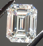 Loose Colorless Diamond: 1.01ct H VS1 Emerald Cut GIA Exceptional Stone R5158