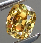 SOLD.... Old Mine Brilliant: .54ct Fancy Deep Greenish Yellow SI1 Branded DBL Modern Antique Diamond GIA R5181