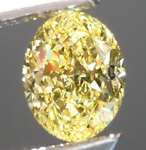 Loose Yellow Diamond: .64ct Fancy Intense Yellow VS2 Oval Shape GIA Great Sparkle R5205