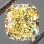 SOLD....Loose Yellow Diamond: .92ct Fancy Intense Yellow VVS2 Cushion Cut GIA Sweet Stone R5207
