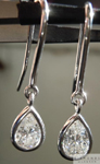 SOLD.... Platinum Earrings: 1.22cts F SI1 Pear Shape Diamond Dangle Earrings R5118