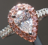 SOLD...0.70ct D SI1 Pear Shape Diamond Ring R5210
