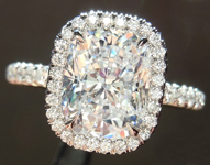 SOLD....2.12ct E SI1 Cushion Cut Diamond Ring GIA R5017