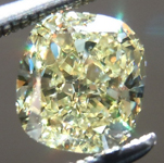 Loose Yellow Diamond: 1.02ct Fancy Yellow VS1 Cushion Cut Fabulous Stone R5221
