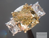 Loose Yellow Diamond: 3.01ct Fancy Brownish Yellow SI2 Cushion Cut GIA R5262