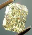 Loose Yellow Diamond: 1.21ct Fancy Light Yellow VVS2 Radiant Cut GIA Lovely Stone R5264