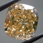 SOLD....Loose Diamond: 3.27ct Fancy Brown Yellow I1 Cushion Cut GIA Beautiful Shape R5267