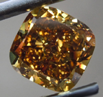 SOLD....Loose Brown Diamond: 6.01ct Fancy Dark Brownish Greenish Yellow VS1 Cushion Modified Brilliant GIA R5268