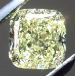 SOLD... Loose Yellow Diamond: .74ct Fancy Light Yellow VS2 Cushion Cut Gorgeous Stone R5283