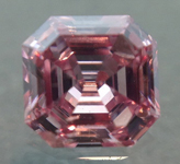 Loose Pink Diamond: .16ct Fancy Intense Pink SI2 Asscher Cut GIA Amazing Color R5279
