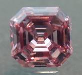 0.16ct Intense Pink SI2 Asscher Cut Diamond R5279