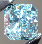 SOLD......Loose Blue Green Diamond: .29ct Fancy Intense Bluish Green SI2 Radiant Cut GIA Rare Beauty R5287