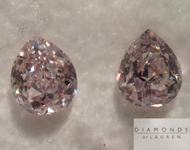 SOLD....Loose Pink Diamonds: .68ctw Light Pink SI Pear Shape Diamond Pair GIA R5288