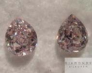 SOLD....Loose Pink Diamonds: .68ctw Light Pink SI Pear Shape Diamond Pair GIA R5288