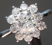 SOLD...Colorless Diamond Ring: .74ct D VVS2 Cushion Cut GIA Princess Halo R5293