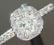 SOLD.....Colorless Diamond Ring: .52ct F SI1 Cushion Modified Brilliant GIA Eye Clean Halo R5314