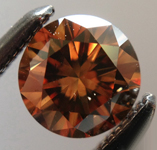 SOLD.... Loose Diamond: .40ct Fancy Deep Orange Brown SI1 Round Brilliant Great Stone R5330