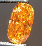 SOLD....Loose Orange Diamond: .55ct Fancy Vivid Yellowish Orange Cushion Cut GIA Amazing Color R5327