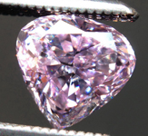 SOLD.....Loose Purple Diamond: .73ct Fancy Pinkish Purple I1 Heart Shape GIA Unusual Stone R5322