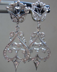 Diamond Earrings: .37cts E-F VS Round Brilliant Diamond Dangle Earrings R5108