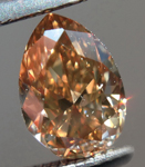 SOLD.... Loose Brown Diamond: .78ct Fancy Yellowish Brown VS2 Pear Shape Stunning Stone R5342