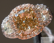 Brown Diamond Ring: 2.02ct Fancy Brown Yellow SI2 Cushion Modified Brilliant GIA Three Stone Halo Ring R5361