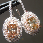 SOLD...Brown Diamond Earrings: 2.13cts Brown Oval Cut Diamond Dangle Earrings GIA R5384