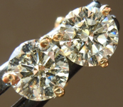 SOLD.....Diamond Earrings: 1.16cts O-P VS1 Round Brilliant Diamond Martini Stud Earrings R4984