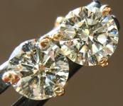 Diamond Earrings: 1.16cts O-P VS1 Round Brilliant Diamond Martini Stud Earrings R4984