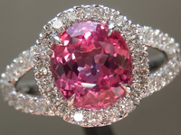1.95ct Pink Cushion Cut Sapphire Ring R5367