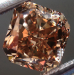 SOLD...Loose Brown Diamond: 1.03ct Fancy Yellow Brown VS2 Radiant Cut Complex Color R5426