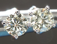 SOLD...Diamond Earrings: .44cts M VS1 Round Brilliant Diamond Stud Earring R4017