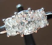 SOLD...Colorless Diamond Ring: 1.10ctw E VS1 Cushion Cut Three Stone Ring Trade In Special  R791