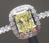 0.46ct Fancy Yellow SI2 Radiant Cut Diamond Ring R5448