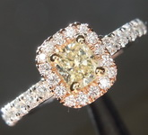0.32ct U-V SI2 Cushion Cut Diamond Ring R5478