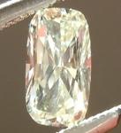 SOLD.....Loose Yellow Diamond: .30ct L VVS2 CUshion Cut GIA Hot Dog! R5479