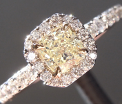0.38ct Yellow VVS2 Radiant Cut Diamond Ring R5482