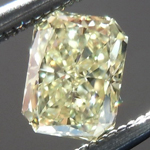 Loose Yellow Diamond: .34ct Fancy Yellow SI1 Radiant Cut GIA Great Sparkle R5474