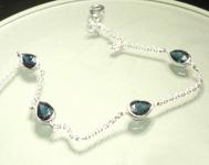 SOLD...Sapphire Bracelet: 2.15cts Blue Pear Shape Sapphire Bezel Set Bracelet Special Price R5423