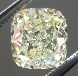 SOLD.... Loose Yellow Diamond: 1.09ct Fancy Light Yellow SI1 Cushion Cut GIA Eye Clean R5566