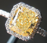 SOLD.....Yellow Diamond Ring: 2.04ct Fancy Light Yellow VS2 Radiant Cut GIA Uber Halo R5562