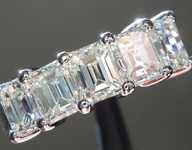 SOLD....Colorless Diamond Ring: 2.51ctw G-H VS1 Emerald Cut Five Stone Ring R5590