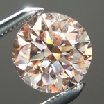 SOLD....Loose Pink Diamond: .93ct Fancy Pink Brown I1 Round Brilliant GIA Remarkable Stone R5586
