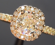 SOLD...Diamond Ring: 1.11ct N SI1Cushion Cut Diamond Halo Ring GIA R5499