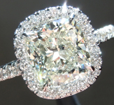 SOLD...Diamond Ring: 2.00ct N SI1 Cushion Cut GIA Halo Ring R5514